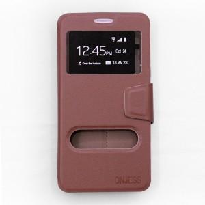 Bao da Samsung Galaxy A9 Pro hiệu OnJess (Nâu) - Case dẻo