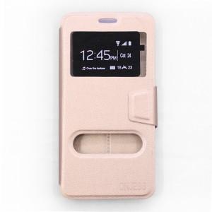 Bao da Samsung Galaxy A9 Pro hiệu OnJess (Vàng) - Case dẻo
