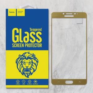Miếng dán cường lực Samsung Galaxy C9 Pro hiệu HOCO Full màn hình (Vàng)