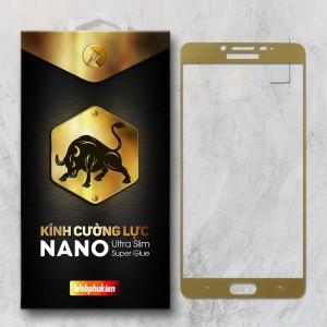 Miếng dán kính cường lực Samsung Galaxy C9 Pro Full hiệu Web Phụ Kiện (Vàng)