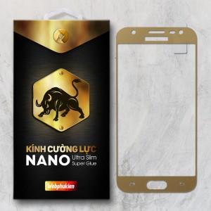 Miếng dán kính cường lực Samsung Galaxy J3 Pro Full hiệu Web Phụ Kiện (Vàng)