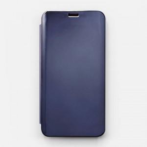 Bao da Samsung Galaxy J4 2018 Clear View tráng gương (Xanh Navy)