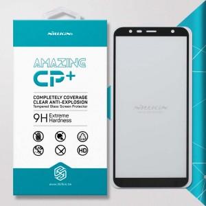 Miếng dán cường lực Samsung Galaxy J4 Plus hiệu Nillkin Full Keo (Đen)