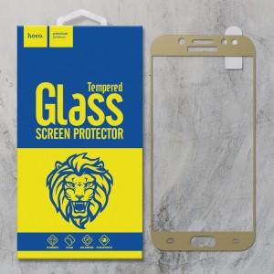 Miếng dán cường lực Samsung Galaxy J5 Pro hiệu HOCO Full màn hình (Vàng)