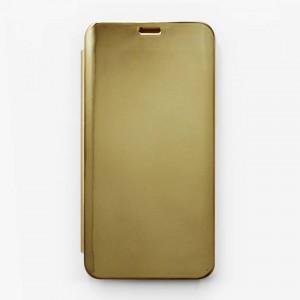 Bao da Samsung Galaxy J6 2018 Clear View tráng gương (Vàng)