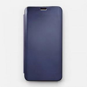 Bao da Samsung Galaxy J6 2018 Clear View tráng gương (Xanh Navy)
