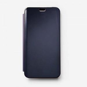 Bao da Samsung Galaxy J6 Plus Clear View tráng gương (Đen)
