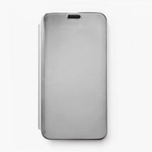 Bao da Samsung Galaxy J7 Prime Clear View tráng gương (Bạc)