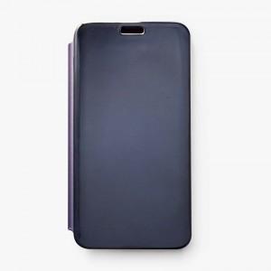 Bao da Samsung Galaxy J7 Prime Clear View tráng gương (Xanh Navy)