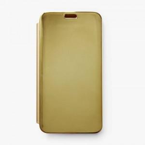 Bao da Samsung Galaxy J7 Prime Clear View tráng gương (Vàng)