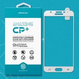 Miếng dán cường lực Samsung Galaxy J7 Prime hiệu Nillkin Full (Trắng)