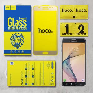 Miếng dán cường lực Samsung Galaxy J7 Prime hiệu HOCO Full màn hình (Vàng)