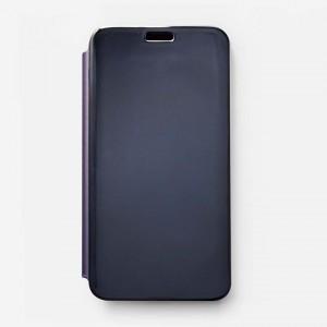 Bao da Samsung Galaxy J7 Pro Clear View tráng gương (Xanh Navy)