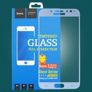 Miếng dán cường lực Samsung Galaxy J7 Plus hiệu HOCO Full màn hình (Xanh)