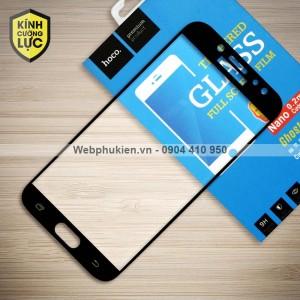 Miếng dán cường lực Samsung Galaxy J7 Plus hiệu HOCO Full màn hình (Đen)