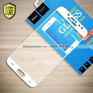 Miếng dán cường lực Samsung Galaxy J7 Plus hiệu HOCO Full màn hình (Trắng)