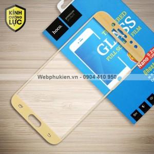 Miếng dán cường lực Samsung Galaxy J7 Plus hiệu HOCO Full màn hình (Vàng)