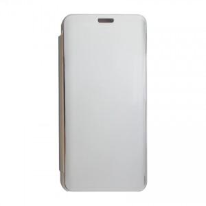 Bao da Samsung Galaxy M10 Clear View tráng gương (Bạc)