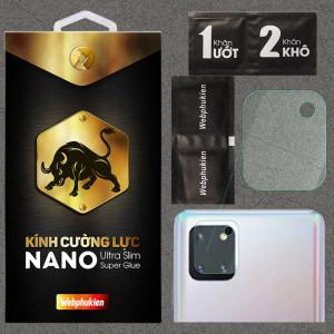 Kính dán cường lực Camera cho Samsung Galaxy Note 10 Lite chính hãng Web Phụ Kiện