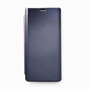 Bao da Samsung Galaxy Note 8 Clear View tráng gương (Xanh Navy)