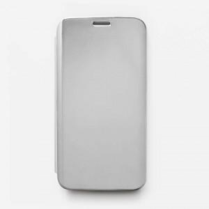 Bao da Samsung Galaxy S7 Edge Clear View tráng gương (Bạc)
