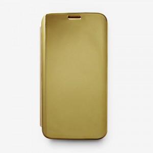 Bao da Samsung Galaxy S7 Edge Clear View tráng gương (Vàng)