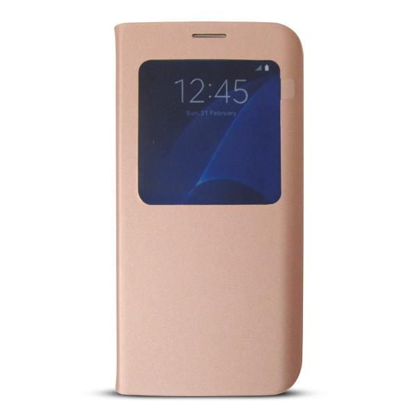Bao da S-View Samsung Galaxy S7 (Made in Việt Nam) hồng