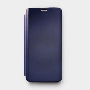 Bao da Samsung Galaxy S8 Clear View tráng gương (Xanh Navy)