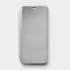 Bao da Samsung Galaxy S9 Clear View tráng gương (Bạc)