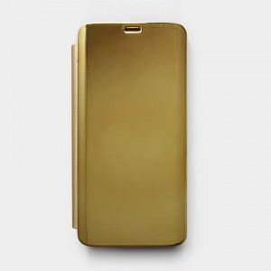 Bao da Samsung Galaxy S9 Clear View tráng gương (Vàng)
