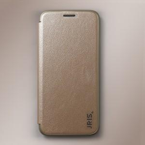 Bao da Samsung Galaxy S9 hiệu JRIS (vàng Champagne)