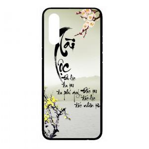 Ốp lưng kính in hình cho Samsung Galaxy A70s hình tết mùa xuân (mẫu 1) - Hàng chính hãng