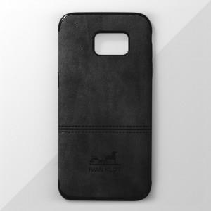 Ốp lưng Samsung Galaxy S7 Edge vân vải bố Ivan Klot (Đen)