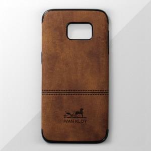Ốp lưng Samsung Galaxy S7 Edge vân vải bố Ivan Klot (Vàng)