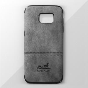 Ốp lưng Samsung Galaxy S7 Edge vân vải bố Ivan Klot (Xám)