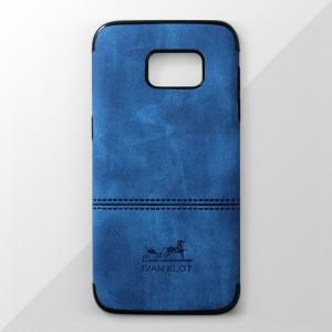 Ốp lưng Samsung Galaxy S7 Edge vân vải bố Ivan Klot (Xanh)