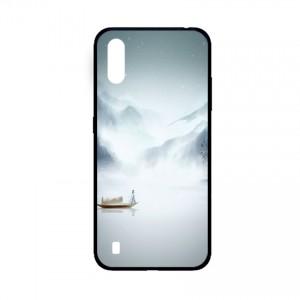 Ốp lưng kính in hình cho Samsung A01  hình phong cảnh (mẫu 40) - Hàng chính hãng