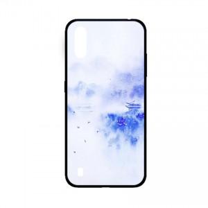 Ốp lưng kính in hình cho Samsung A01  hình phong cảnh (mẫu 42) - Hàng chính hãng