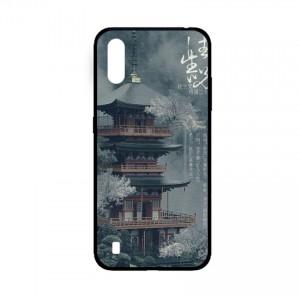 Ốp lưng kính in hình cho Samsung A01  hình phong cảnh (mẫu 43) - Hàng chính hãng