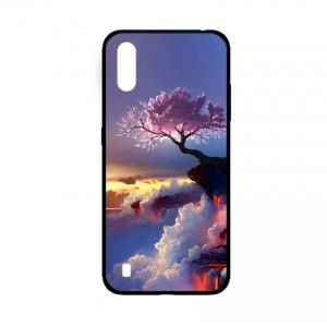 Ốp lưng kính in hình cho Samsung A01  hình phong cảnh (mẫu 44) - Hàng chính hãng