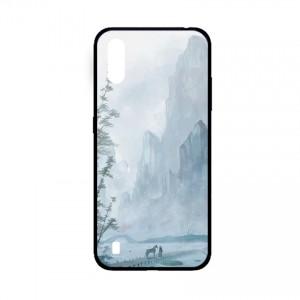 Ốp lưng kính in hình cho Samsung A01  hình phong cảnh (mẫu 50) - Hàng chính hãng