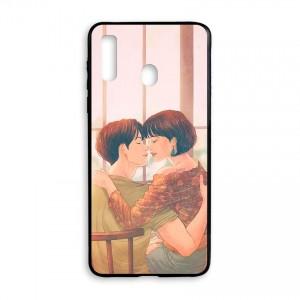 Ốp lưng kính in hình cho Samsung Galaxy A20s Valentine (mẫu 48) - Hàng chính hãng