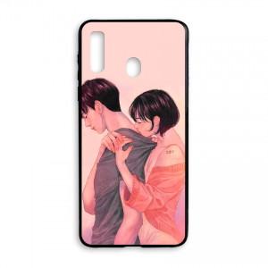 Ốp lưng kính in hình cho Samsung Galaxy A20s Valentine (mẫu 56) - Hàng chính hãng