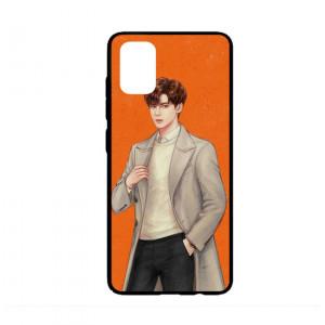 Ốp lưng kính in hình cho Samsung A51  Valentine  (mẫu 7) - Hàng chính hãng