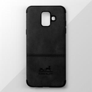 Ốp lưng Samsung Galaxy A6 2018 vân vải bố Ivan Klot (Đen)