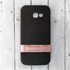 Ốp lưng vân Carbon cho Samsung Galaxy A7 2017 (Hồng)