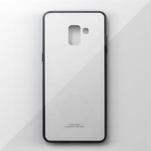 Ốp lưng Samsung Galaxy A8 Plus tráng gương viền dẻo (Trắng)