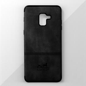 Ốp lưng Samsung Galaxy A8 Plus vân vải bố Ivan Klot (Đen)