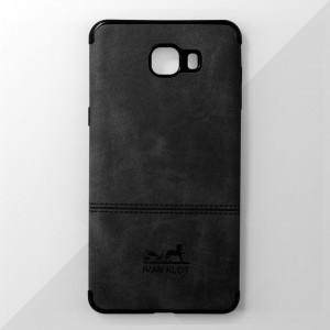 Ốp lưng Samsung Galaxy C9 Pro vân vải bố Ivan Klot (Đen)
