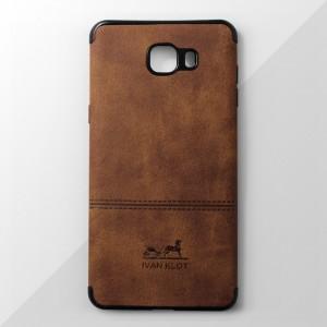 Ốp lưng Samsung Galaxy C9 Pro vân vải bố Ivan Klot (Vàng)
